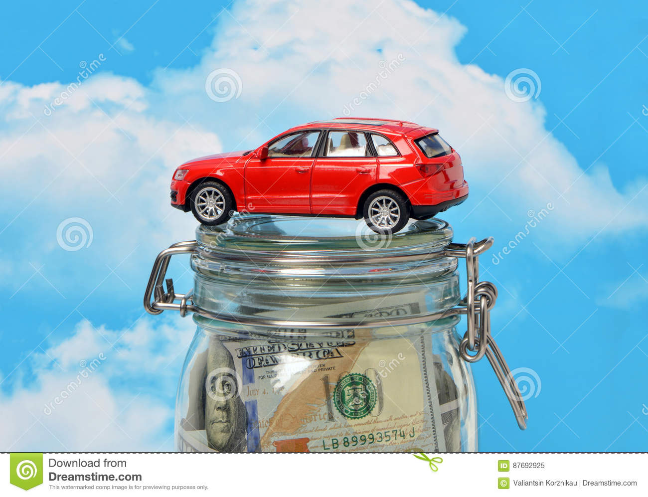 The loan to buy a car
