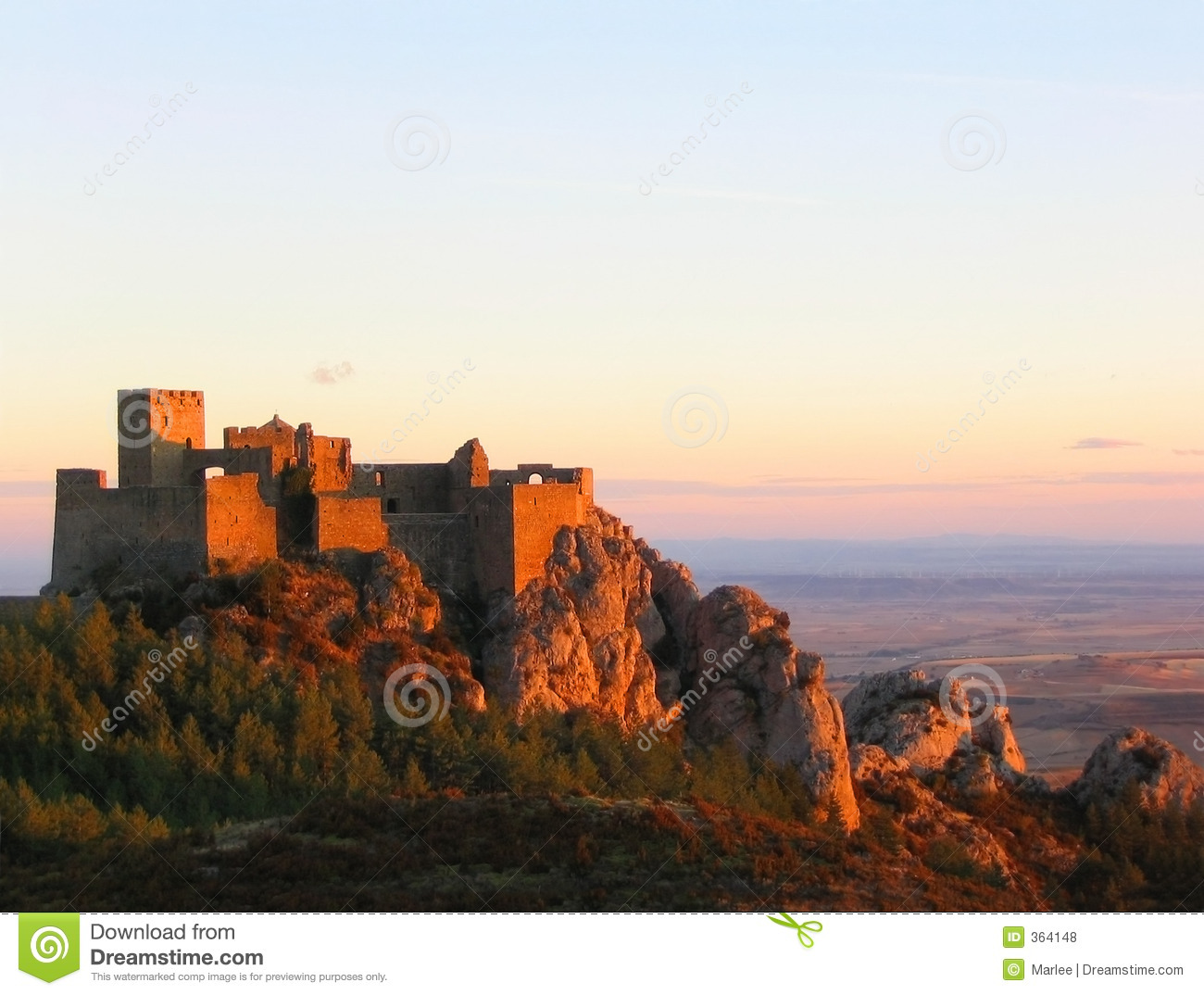 Loarre Castle at sunset