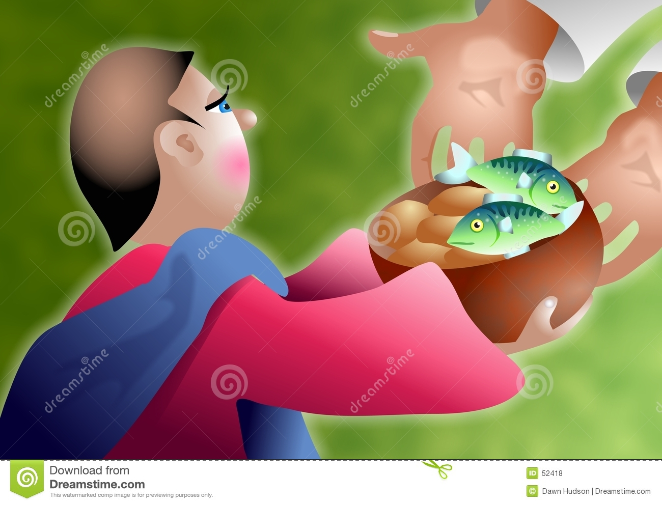 Loaves cartoons illustrations vector stock images 139 for Loaves and fishes