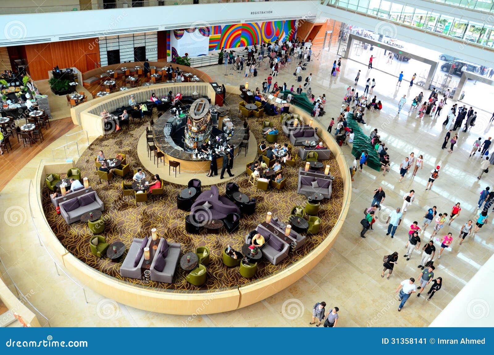 Lobby d hôtel de Marina Bay Sands : Singapour