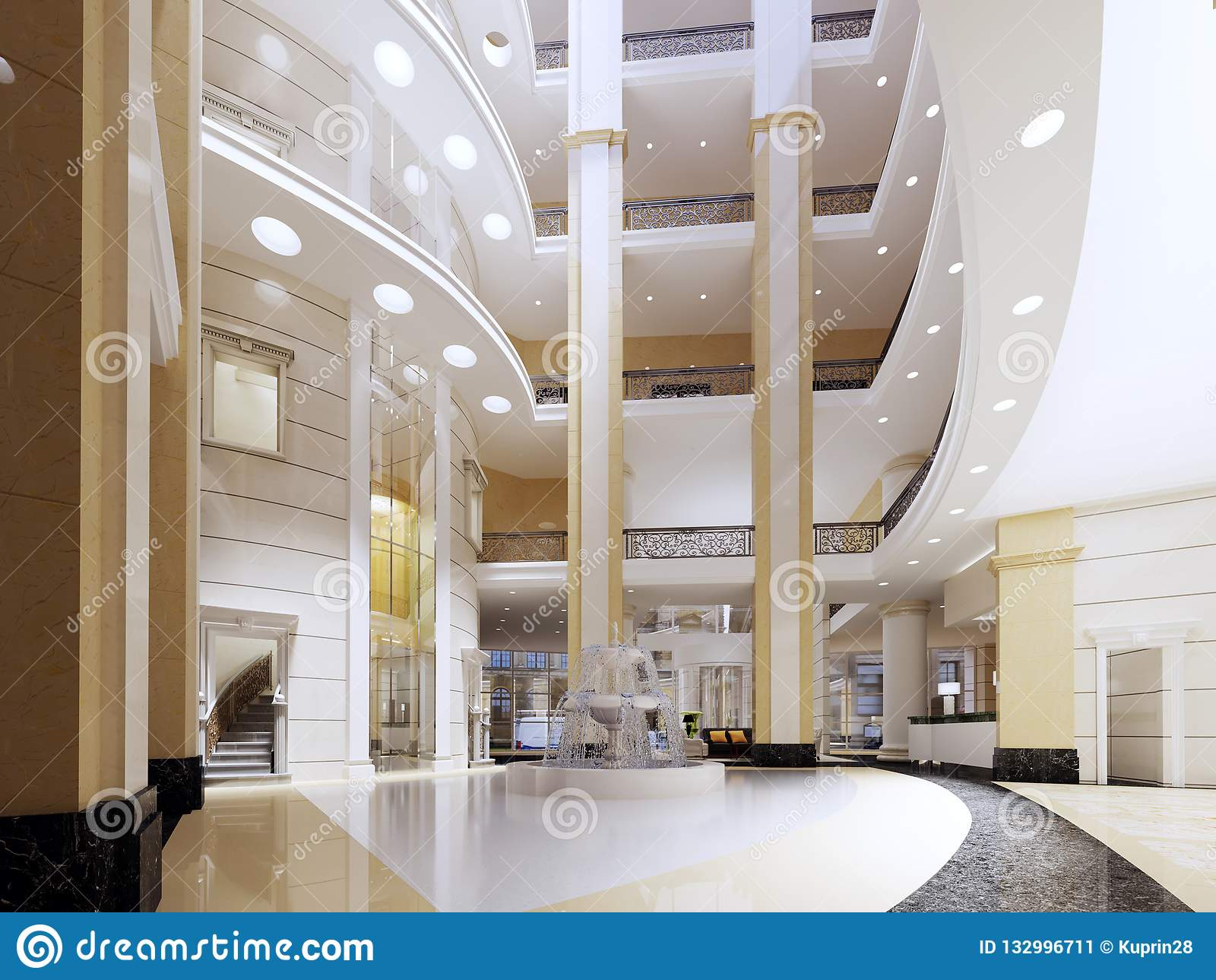 the lobby of the five star hotel in a modern style with marble walls rh dreamstime com  modern hotel style bathrooms
