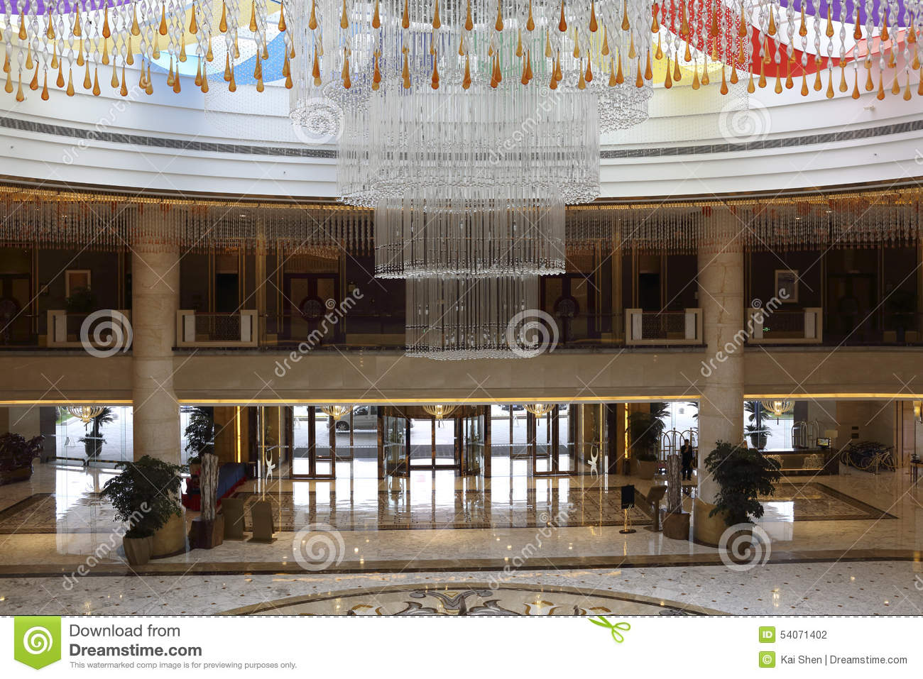 The Lobby Of The Hotel And The Gate Stock Photo Image
