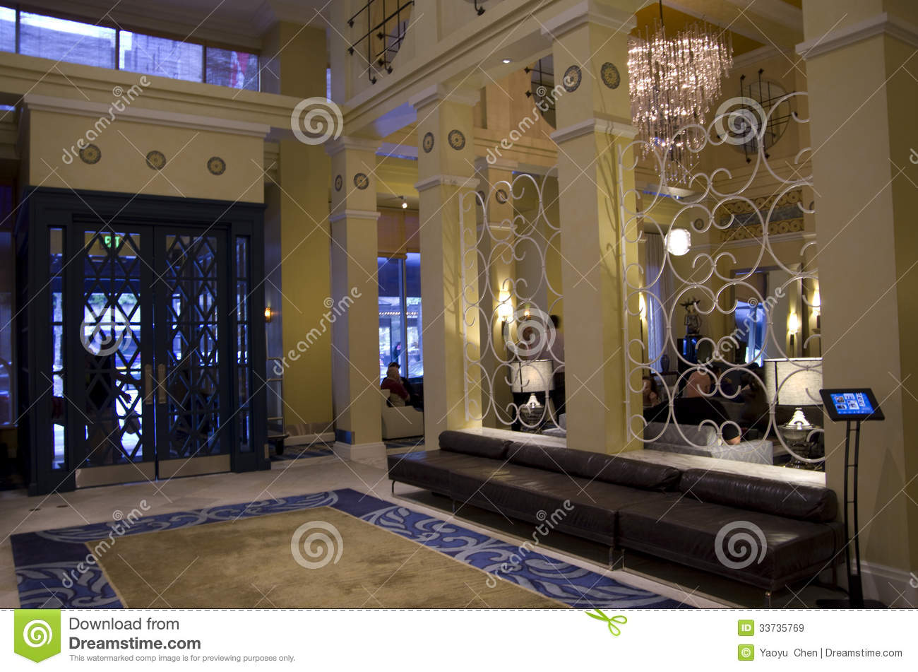 Lobby of hotel monaco seattle editorial stock image for Very luxury hotels