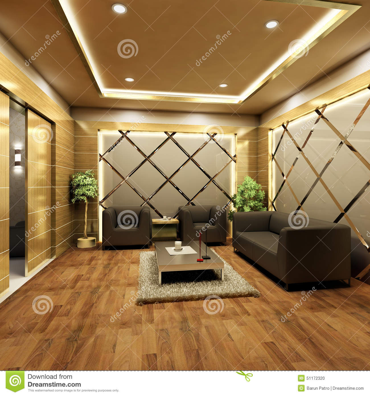 Lobby Interior Design Stock Illustration Illustration Of