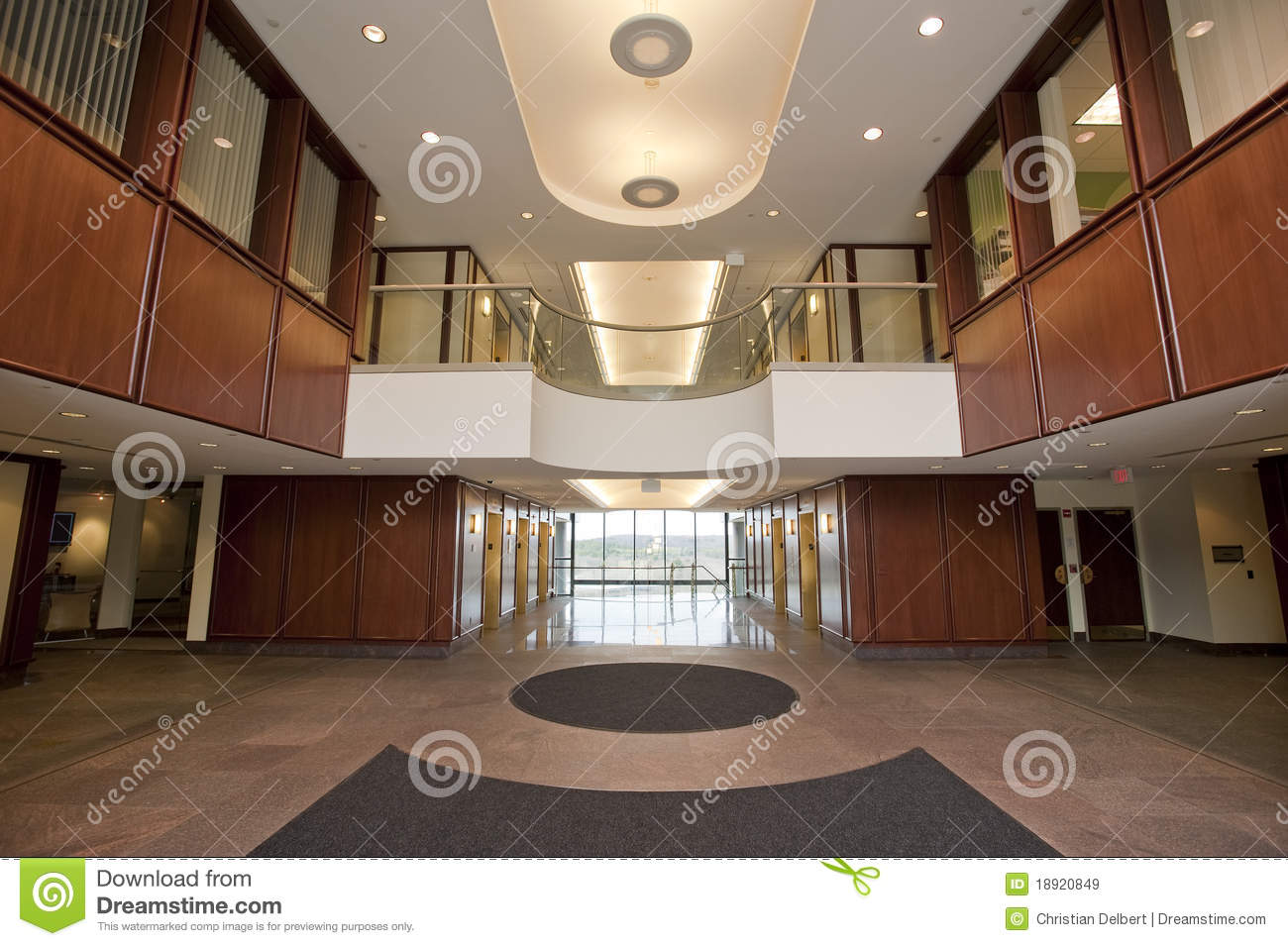 Lobby In Modern Office Building Royalty Free Stock Images Image