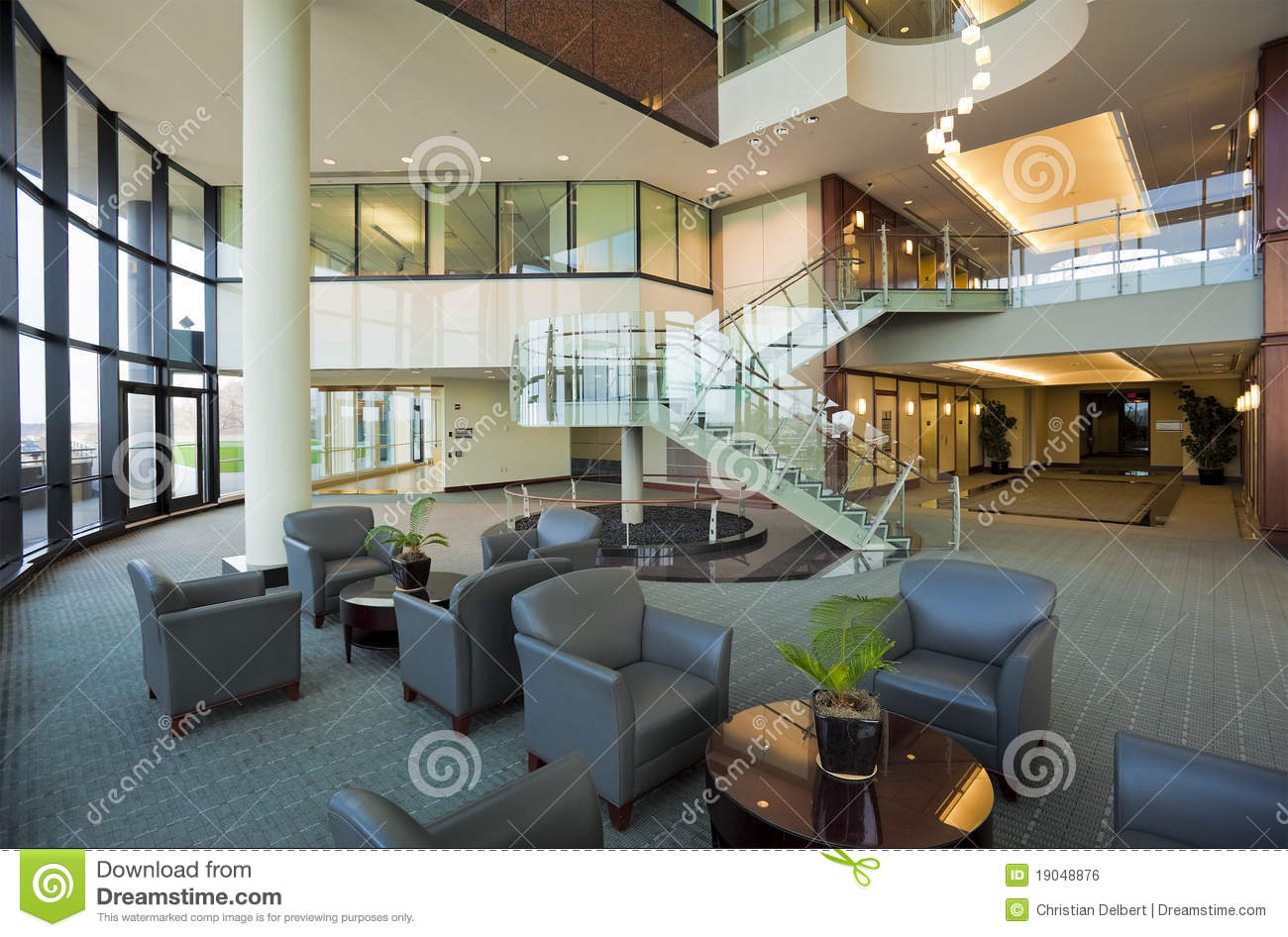 Lobby In Modern Office Building Royalty Free Stock Image Image