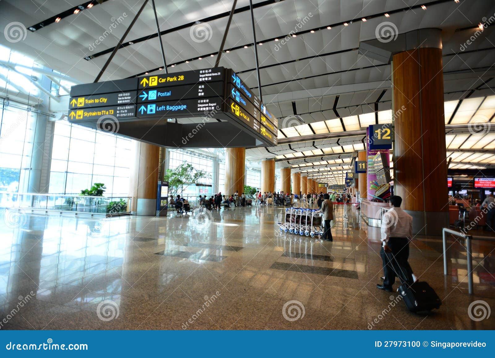 lobby of singapore changi airport editorial image image