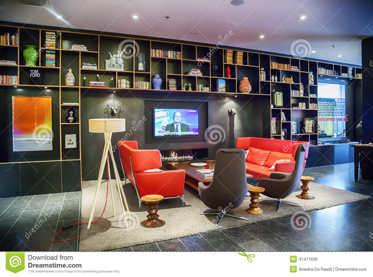 Download Lobby Space In Design   Hotel Editorial Photo   Image Of Cozy,  Design: