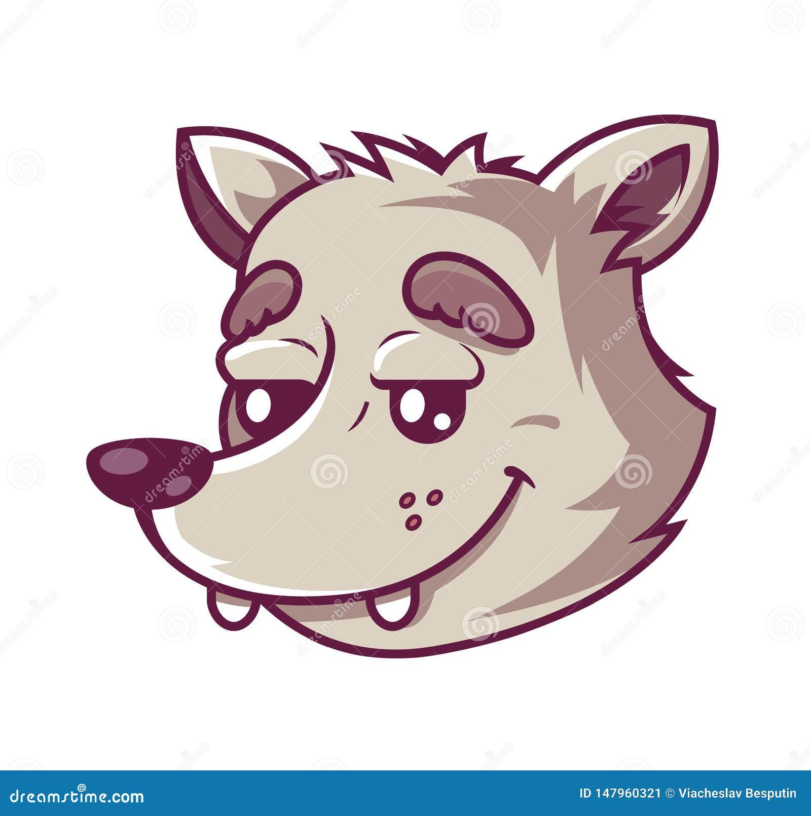 Lobo do focinho car?ter bonito que sorri