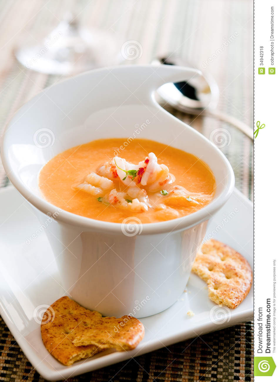 Lobster Bisque stock photo. Image of shrimp, gourmet - 34942318