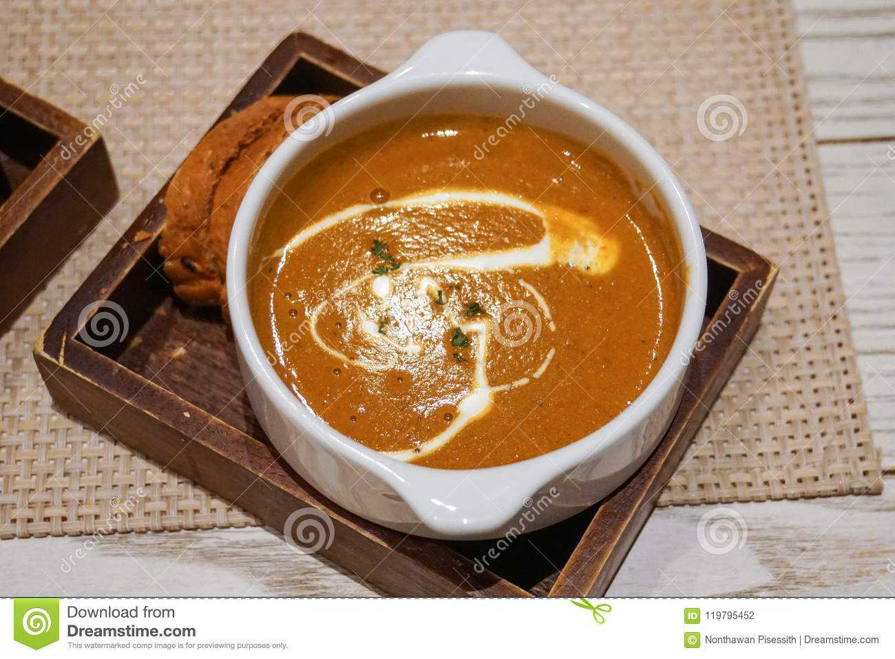 Fish Soup With Bread And Garlic Stock Image ...