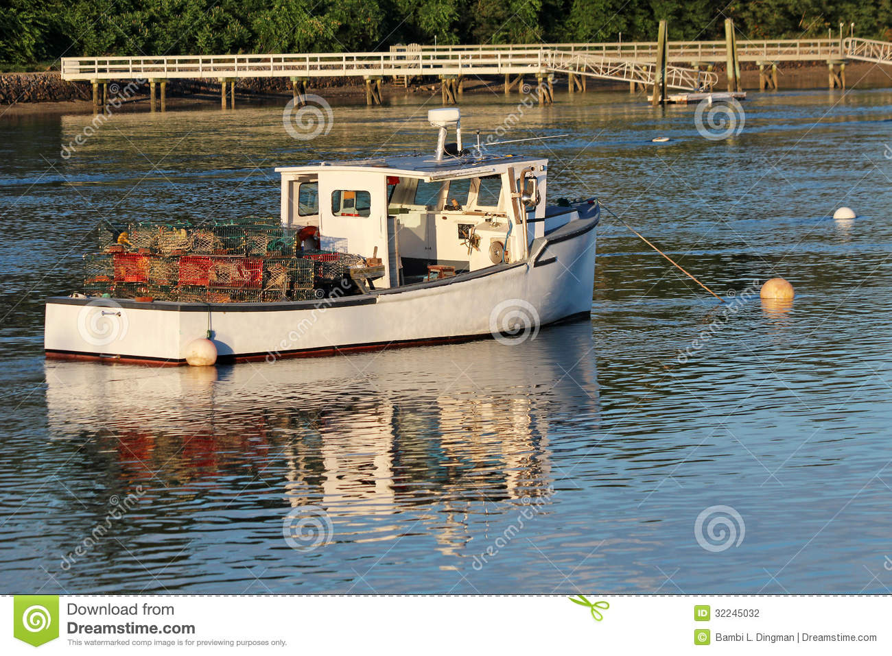 Lobster Boat Stock Photography - Image: 32245032