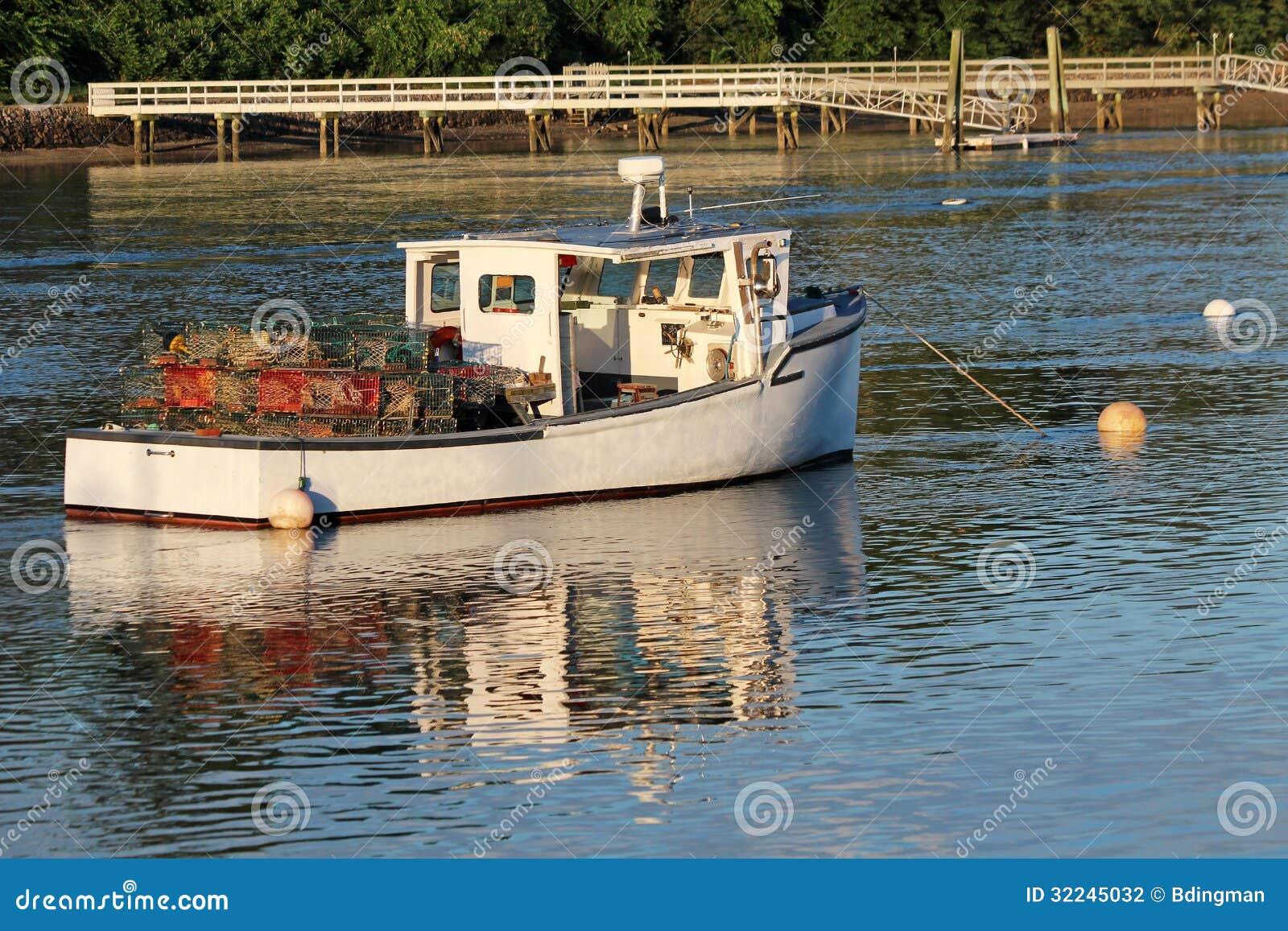 Lobster Boat stock photo. Image of buoys, scenic, inner ...