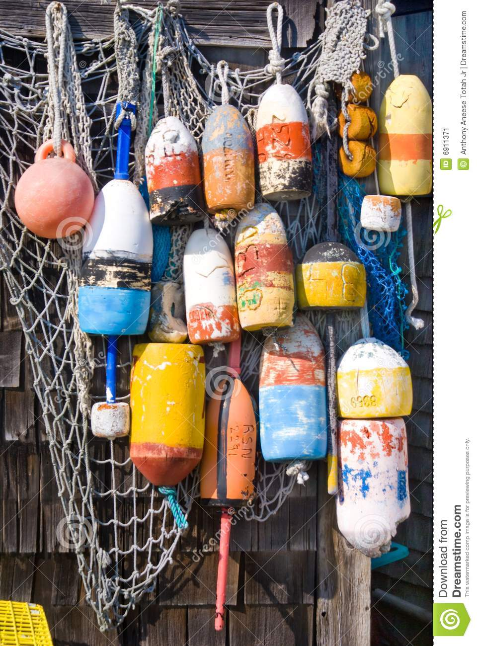 Lobster Buoys Stock Image - Image: 6911371