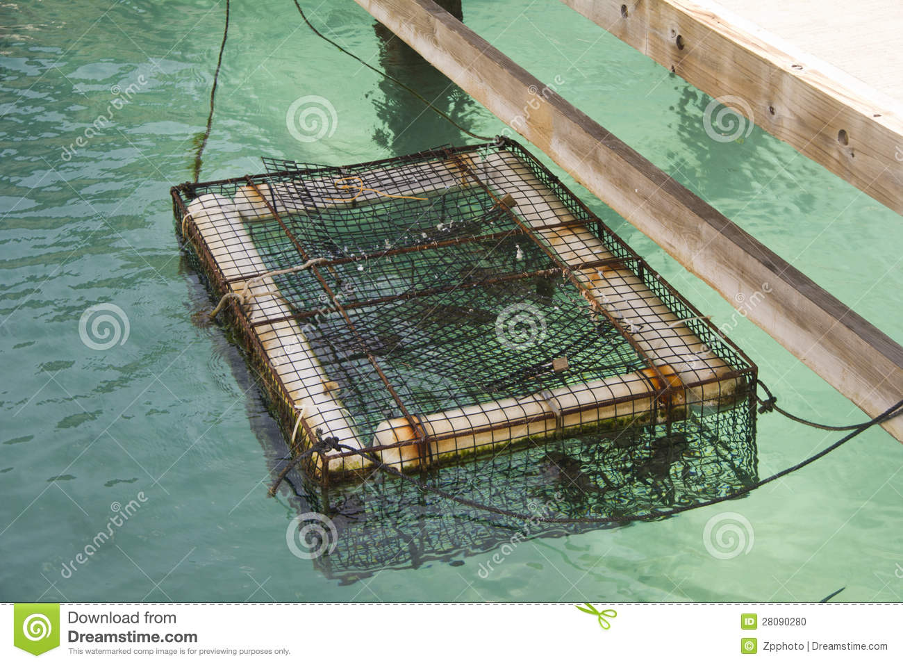 Lobster Cage Stock Photo - Image: 28090280