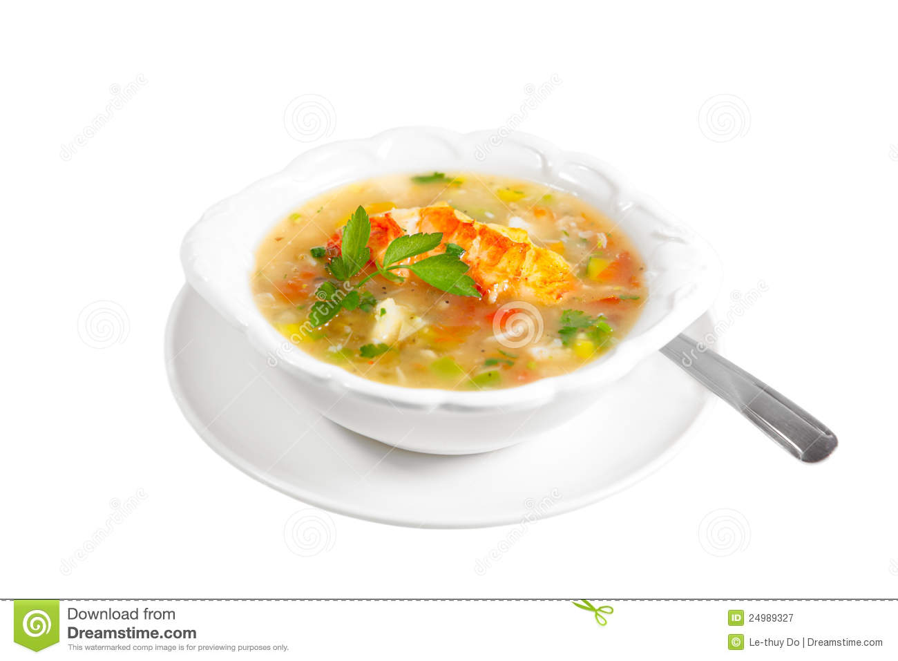 Lobster Chowder Royalty Free Stock Photography - Image: 24989327