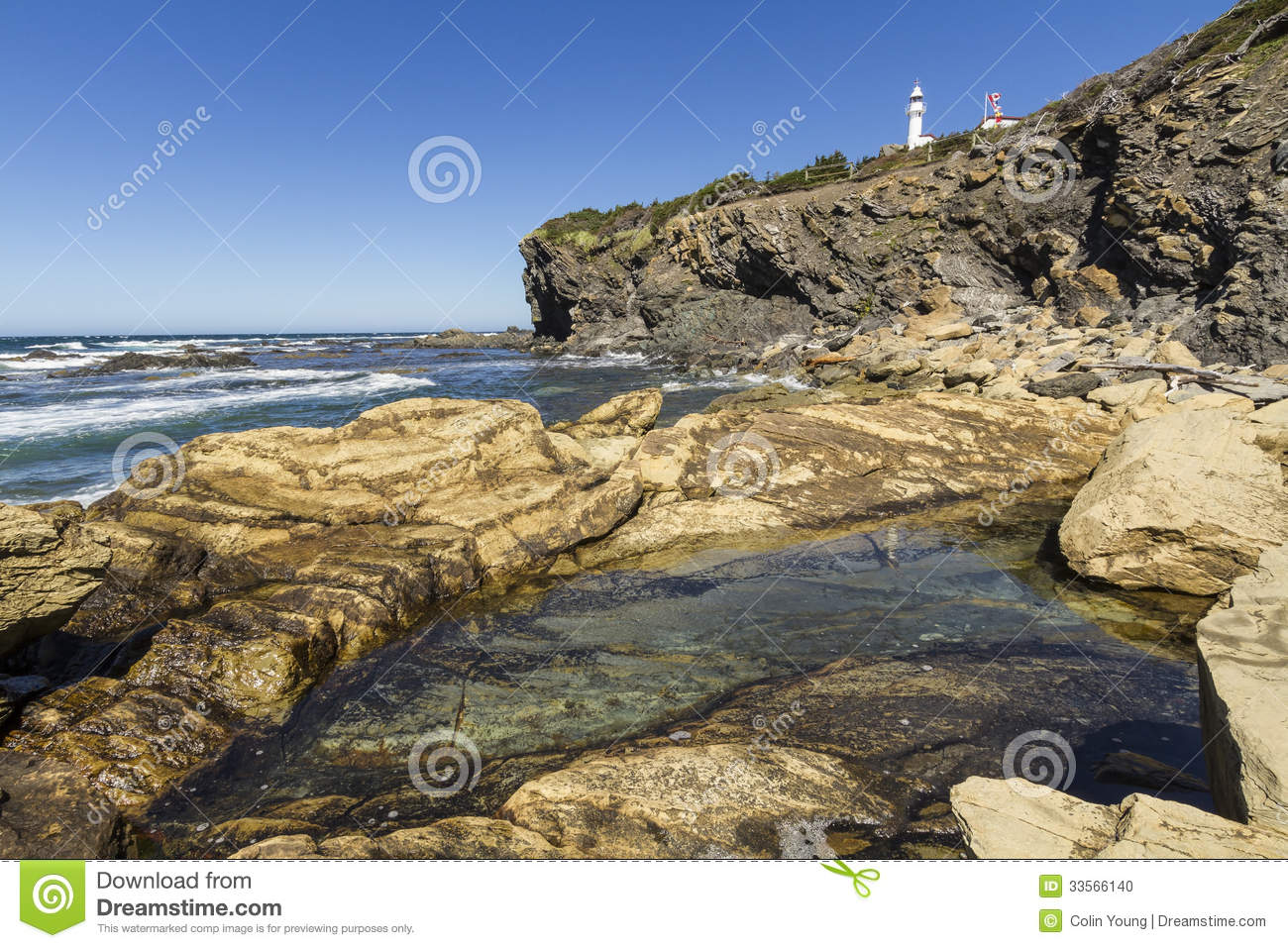 Download Lobster Cove Rocky Pool stock photo. Image of park, national - 33566140
