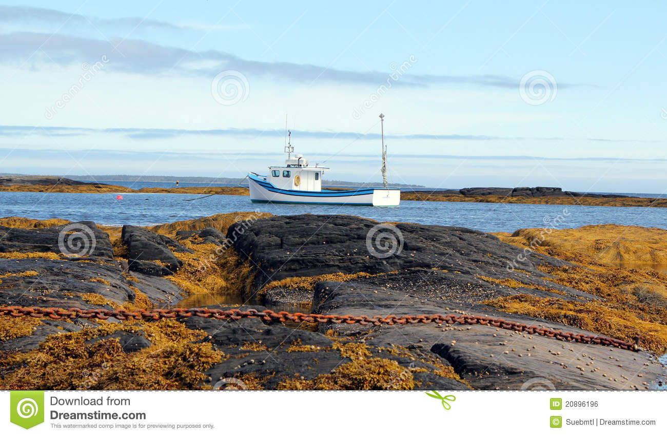 Lobster Fishing Boat Atlantic Coast Nova Scotia Stock Photo - Image of moorings, lobster: 20896196