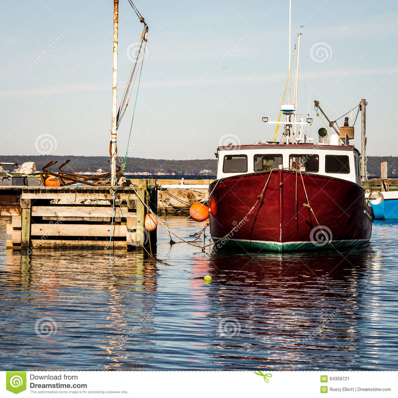 Lobster Fishing Boat Stock Photo - Image: 64359721
