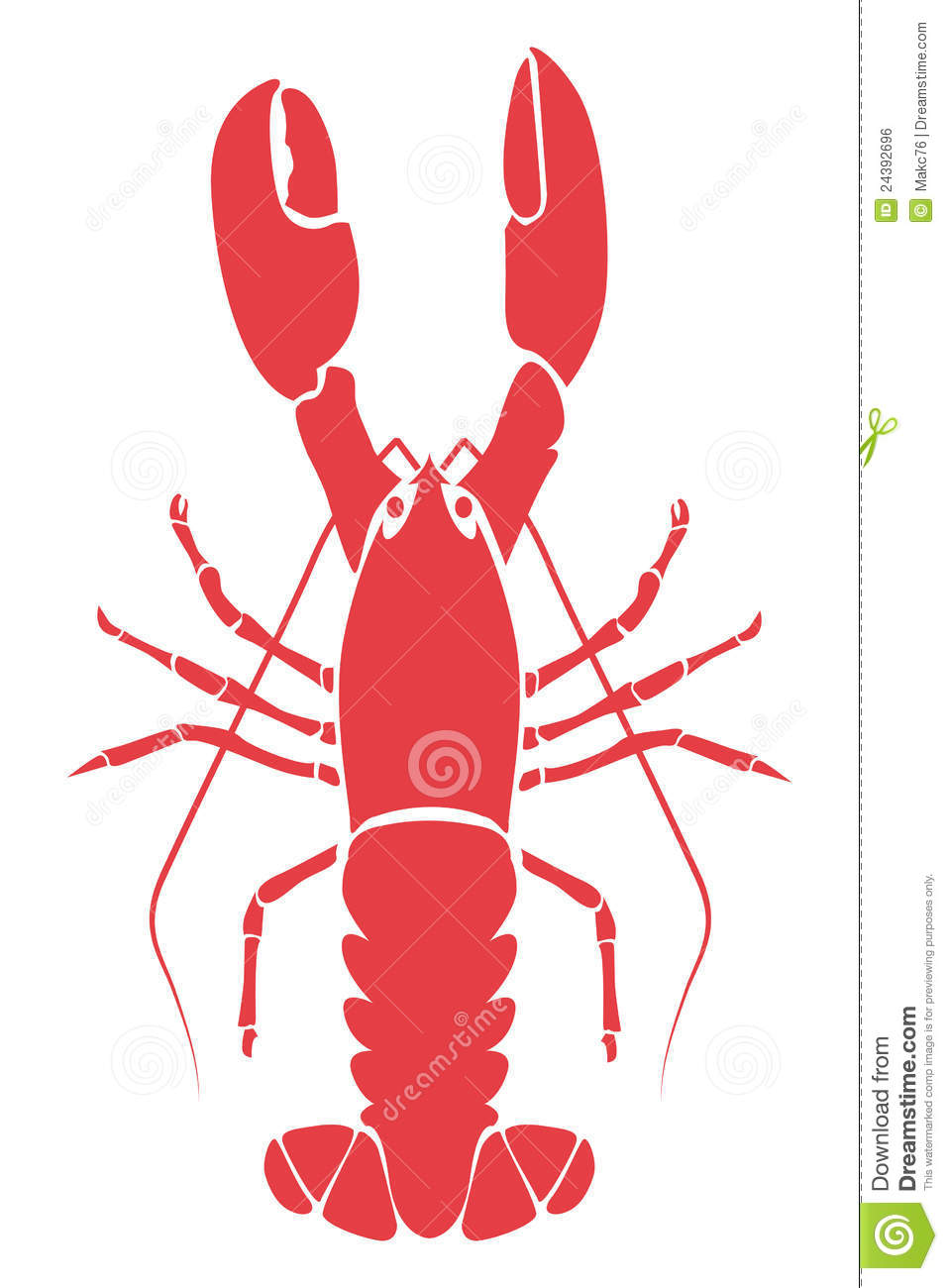 Lobster Illustration Royalty Free Stock Image - Image: 24392696