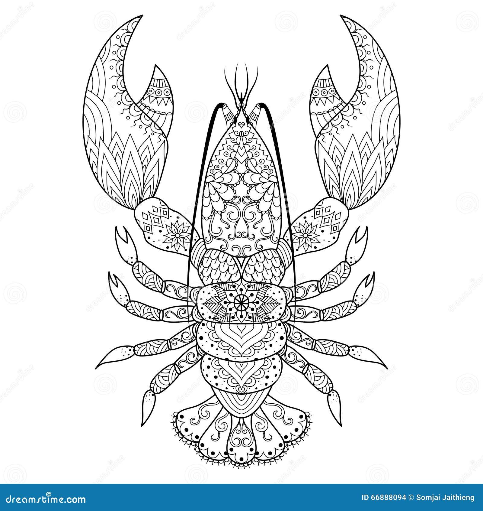 Lobster Line Art Stock Images