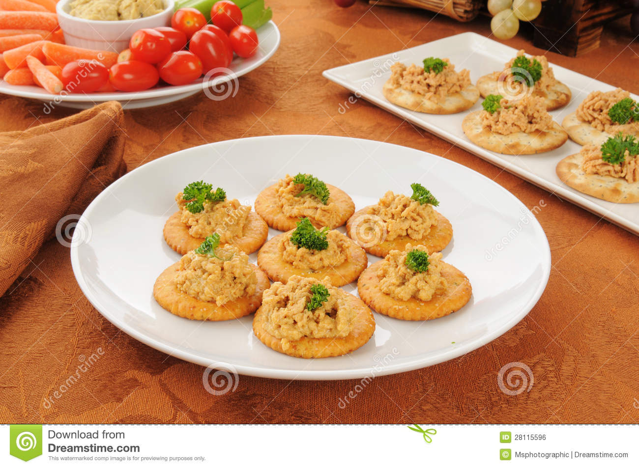 Lobster pate canapes royalty free stock image image for Canape garnishes