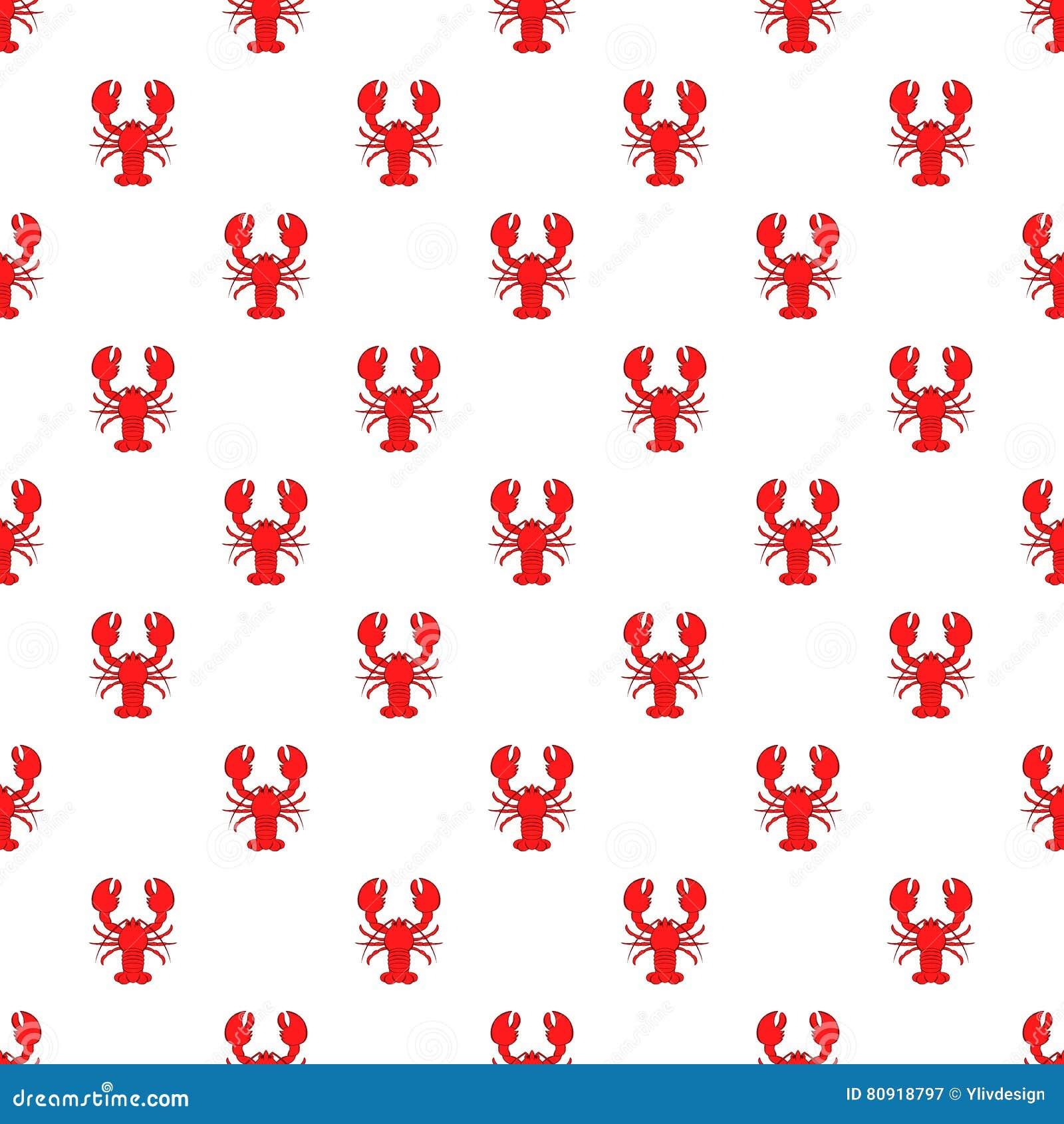 Lobster Pattern, Cartoon Style Cartoon Vector | CartoonDealer.com #80918797