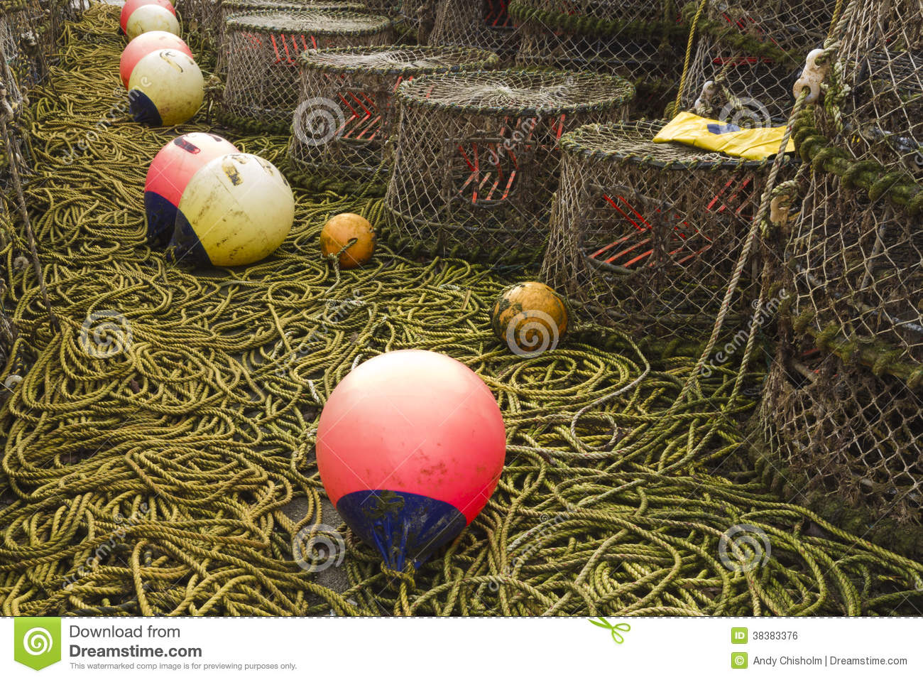 Lobster pots and associated equipment