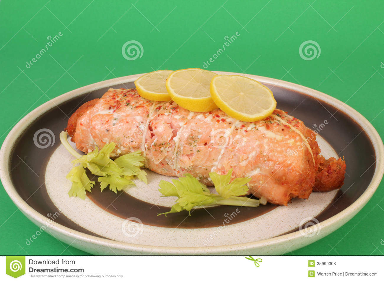 Lobster-stuffed Salmon Roll Royalty Free Stock Photos - Image: 35999308