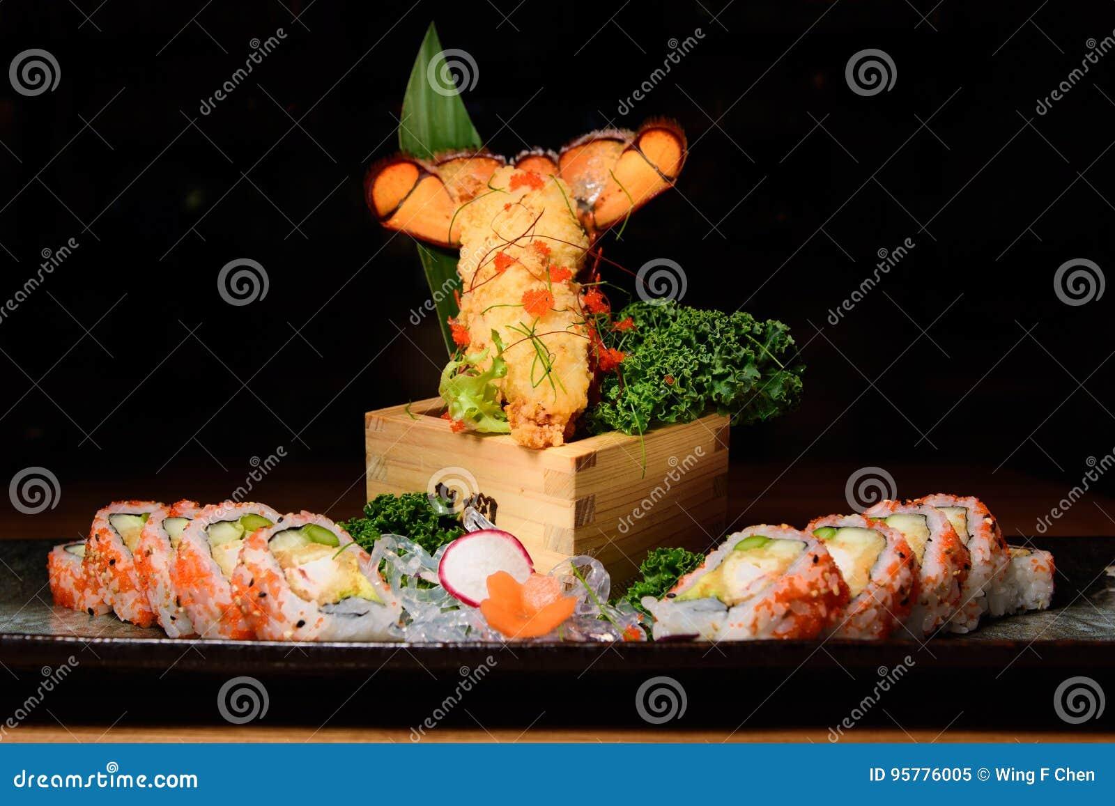 Lobster sushi roll
