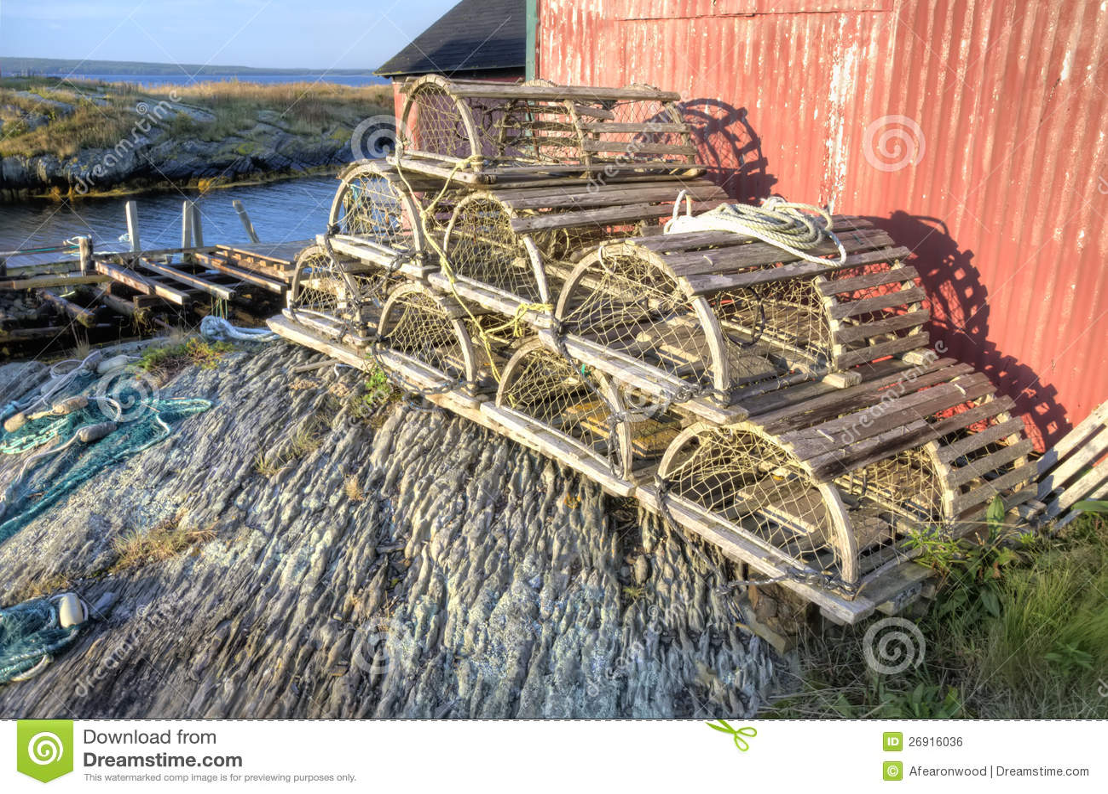 Lobster Traps, Blue Rock, Nova Scotia Royalty Free Stock Image - Image: 26916036