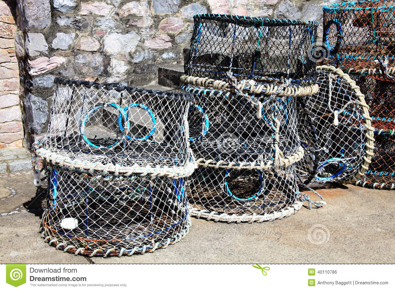 Lobster Traps Stock Photo - Image: 40110786
