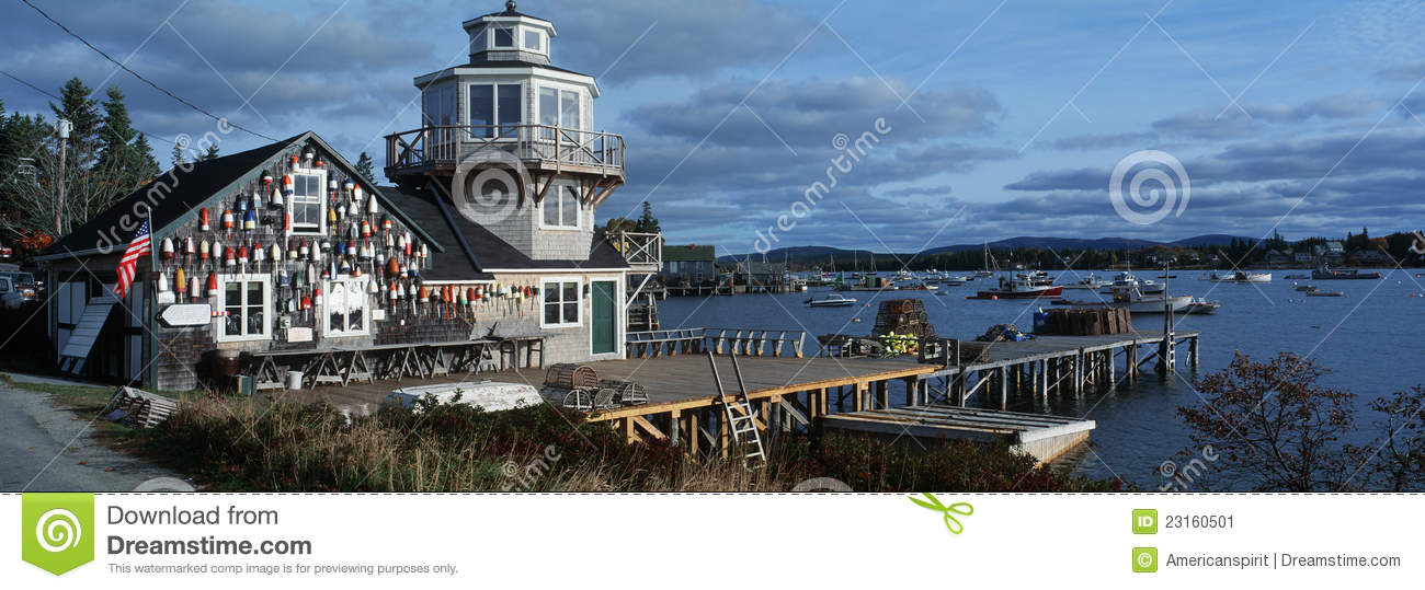 Lobster Village In New England Editorial Photo - Image: 23160501