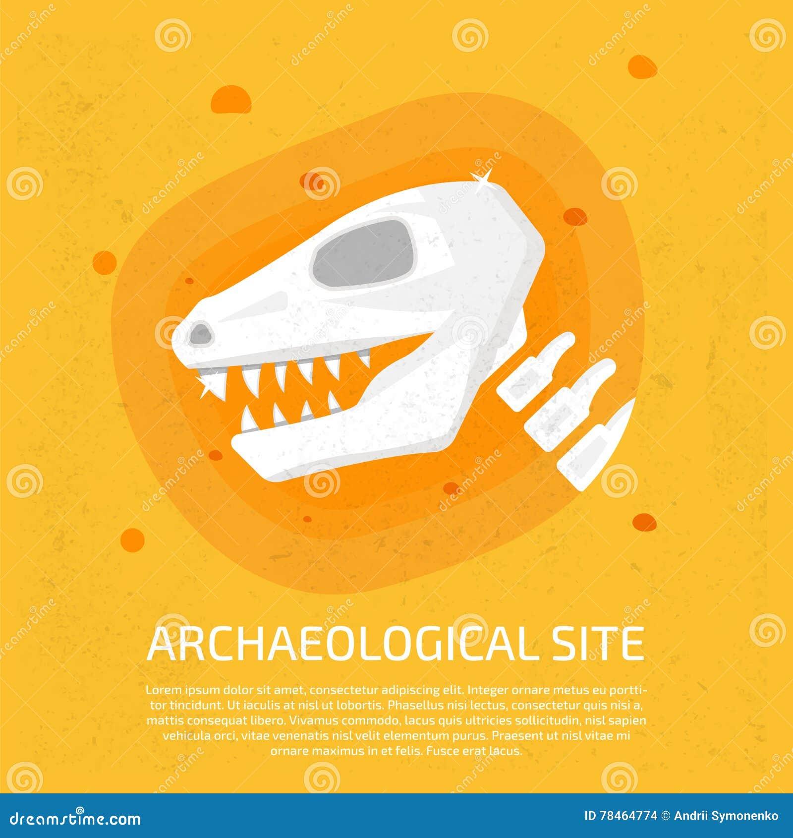 Local Archaeological Ícone do dinossauro archaeological