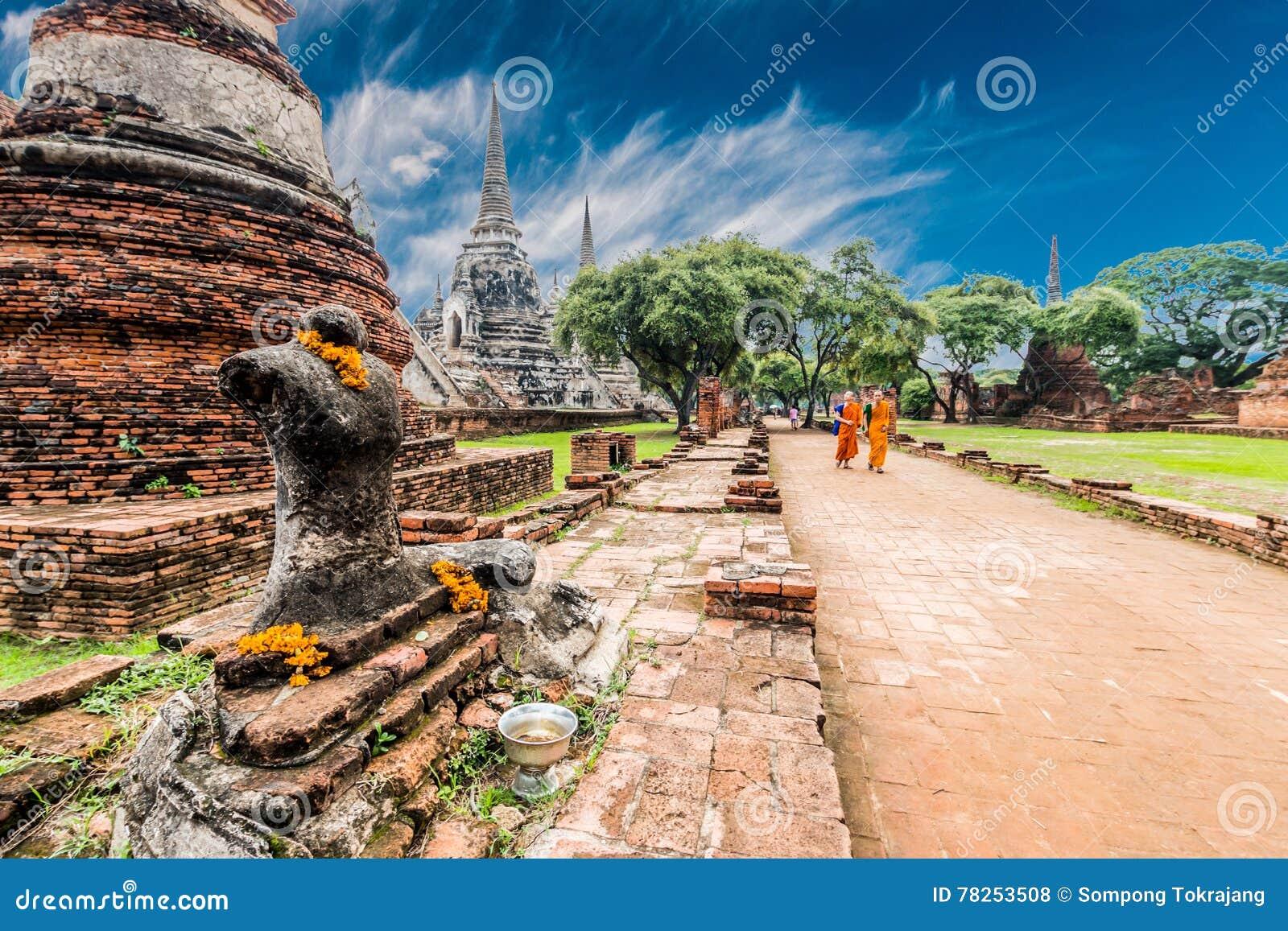 Local arqueológico em Ayutthaya