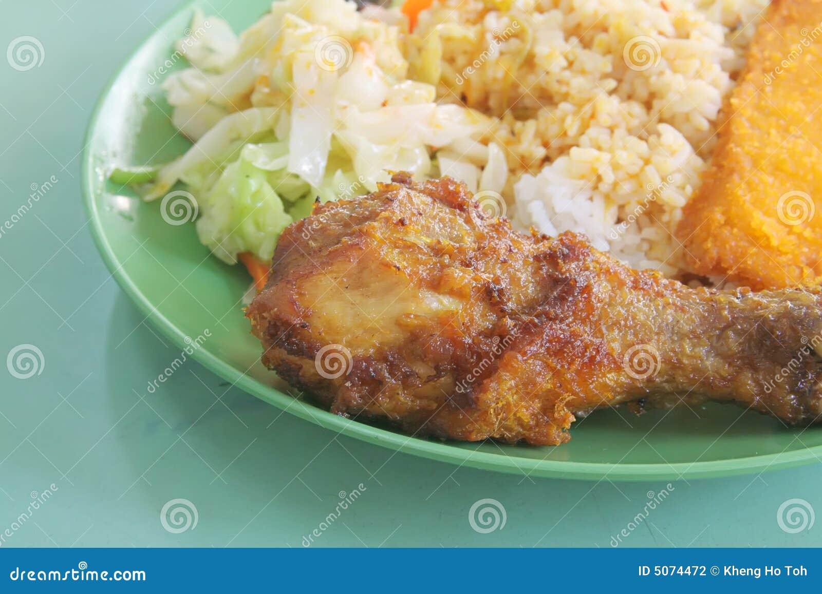 Local Asian Hawker Mixed Rice Food Fare