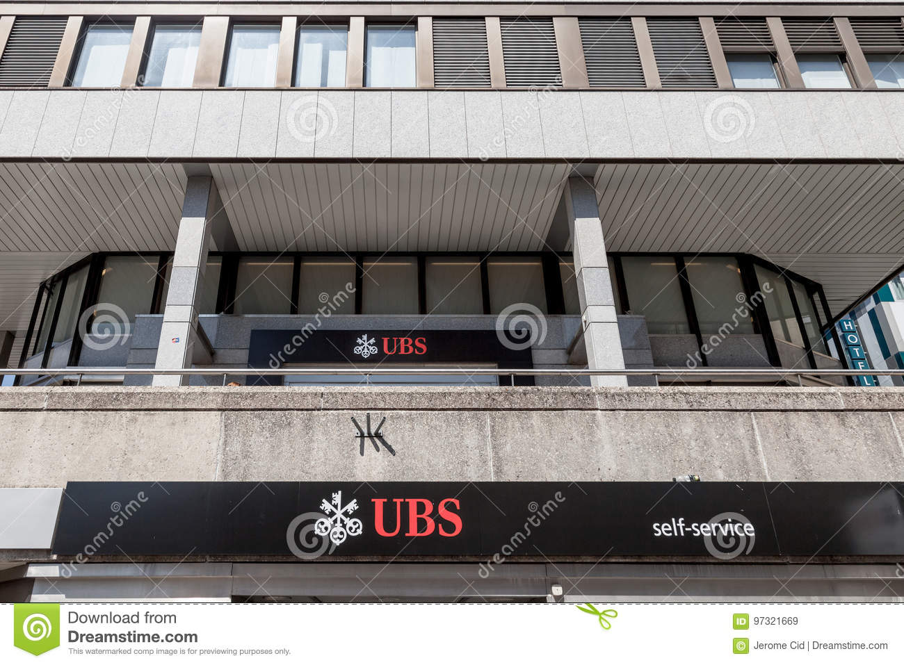 Local Branch Of UBS Union Bank Switerland In Geneva  UBS Is