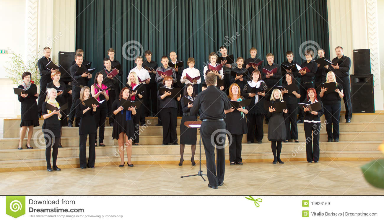 Local Choir Competition editorial stock image  Image of