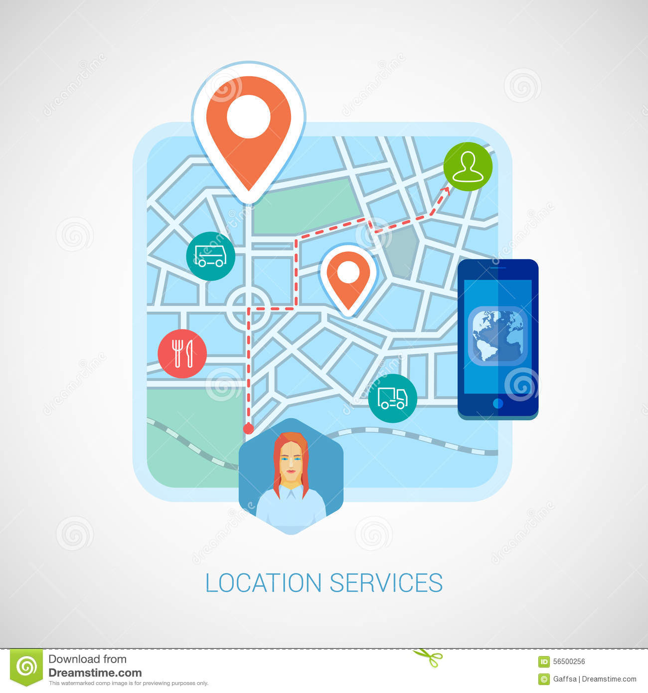 local city map mobile navigation flat icon stock vector