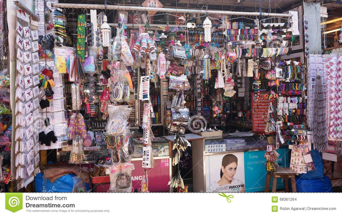 Local Cosmetic Shop, India Editorial Stock Image - Image ...
