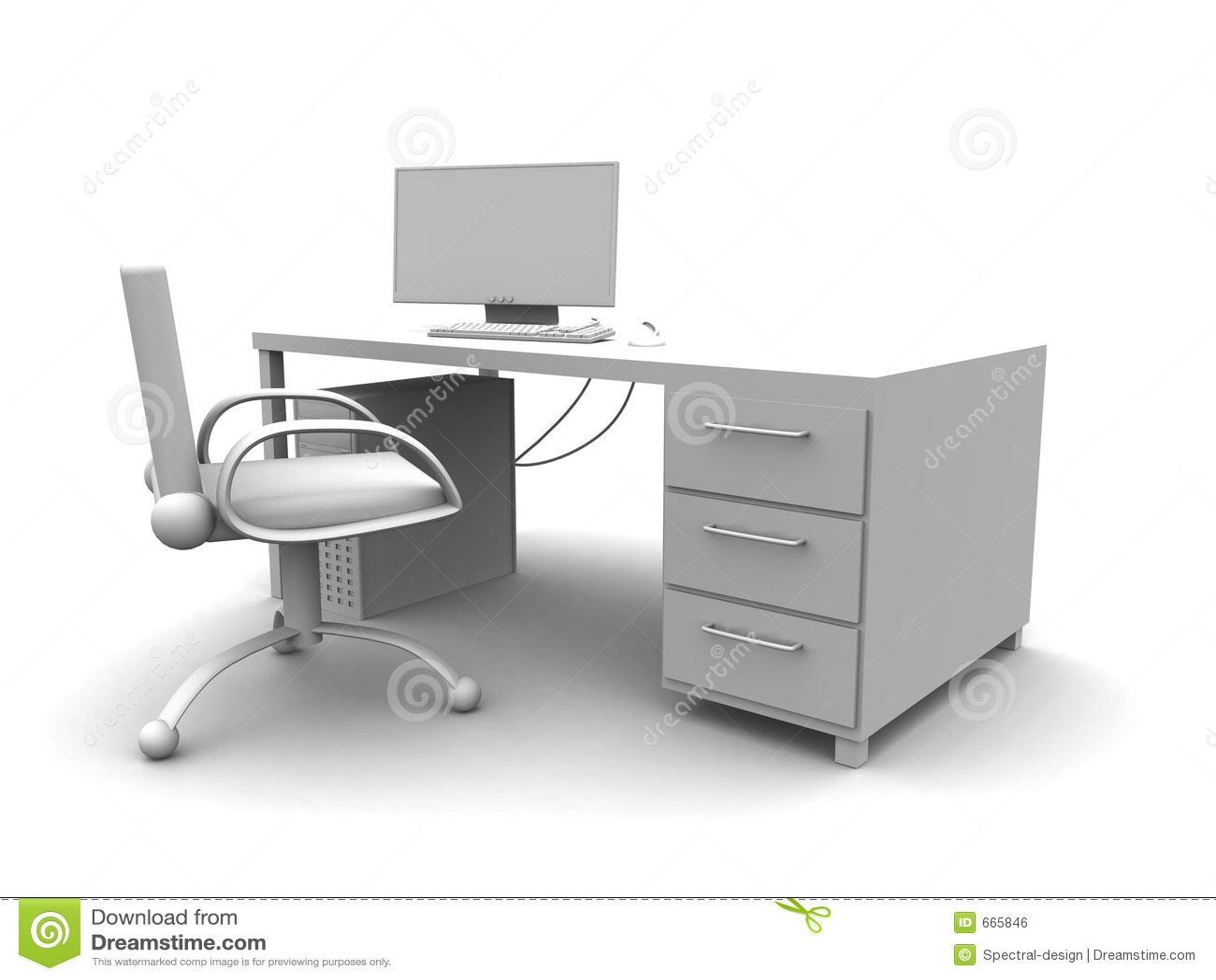 Local de trabalho do PC