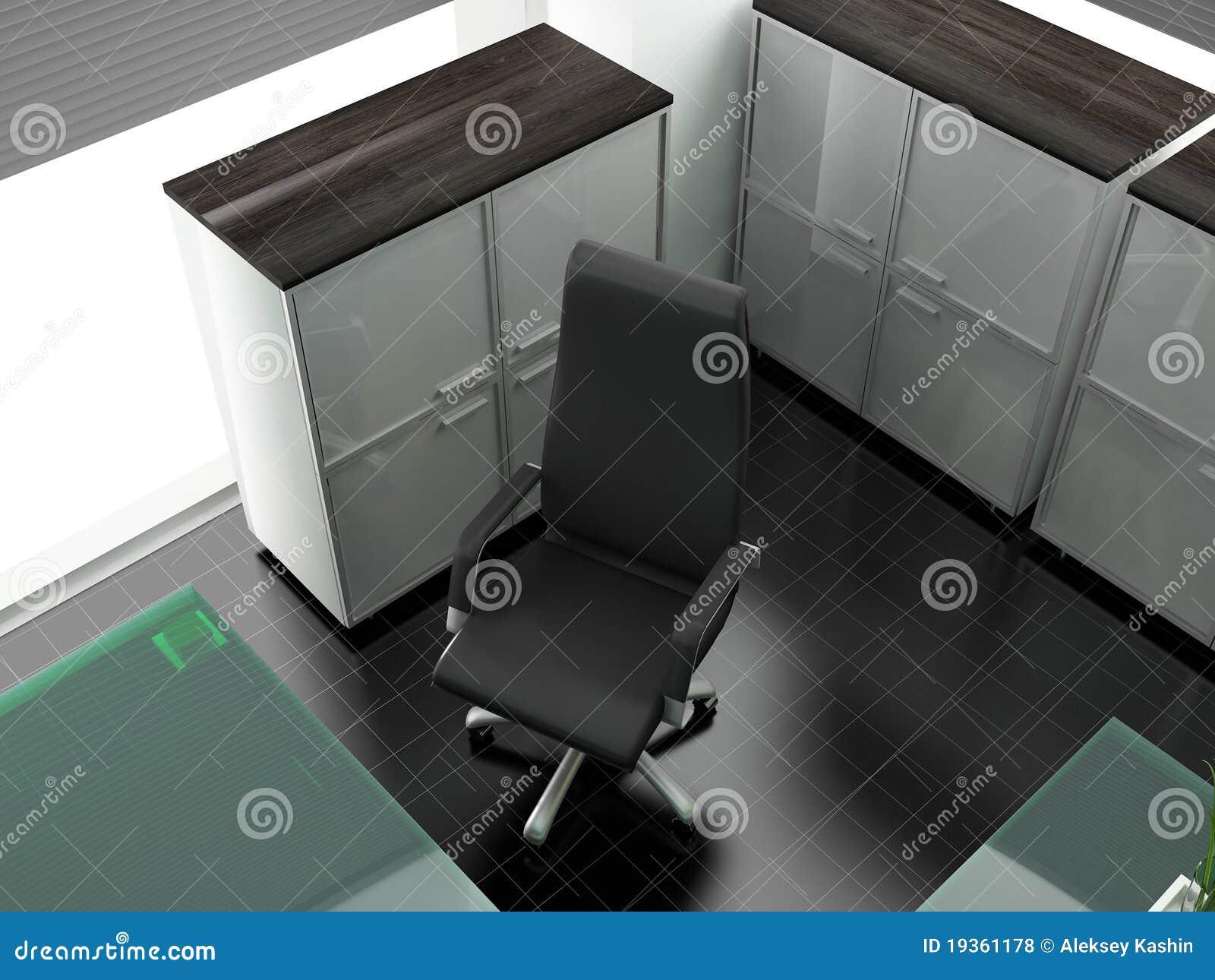 Local de trabalho no escritório moderno
