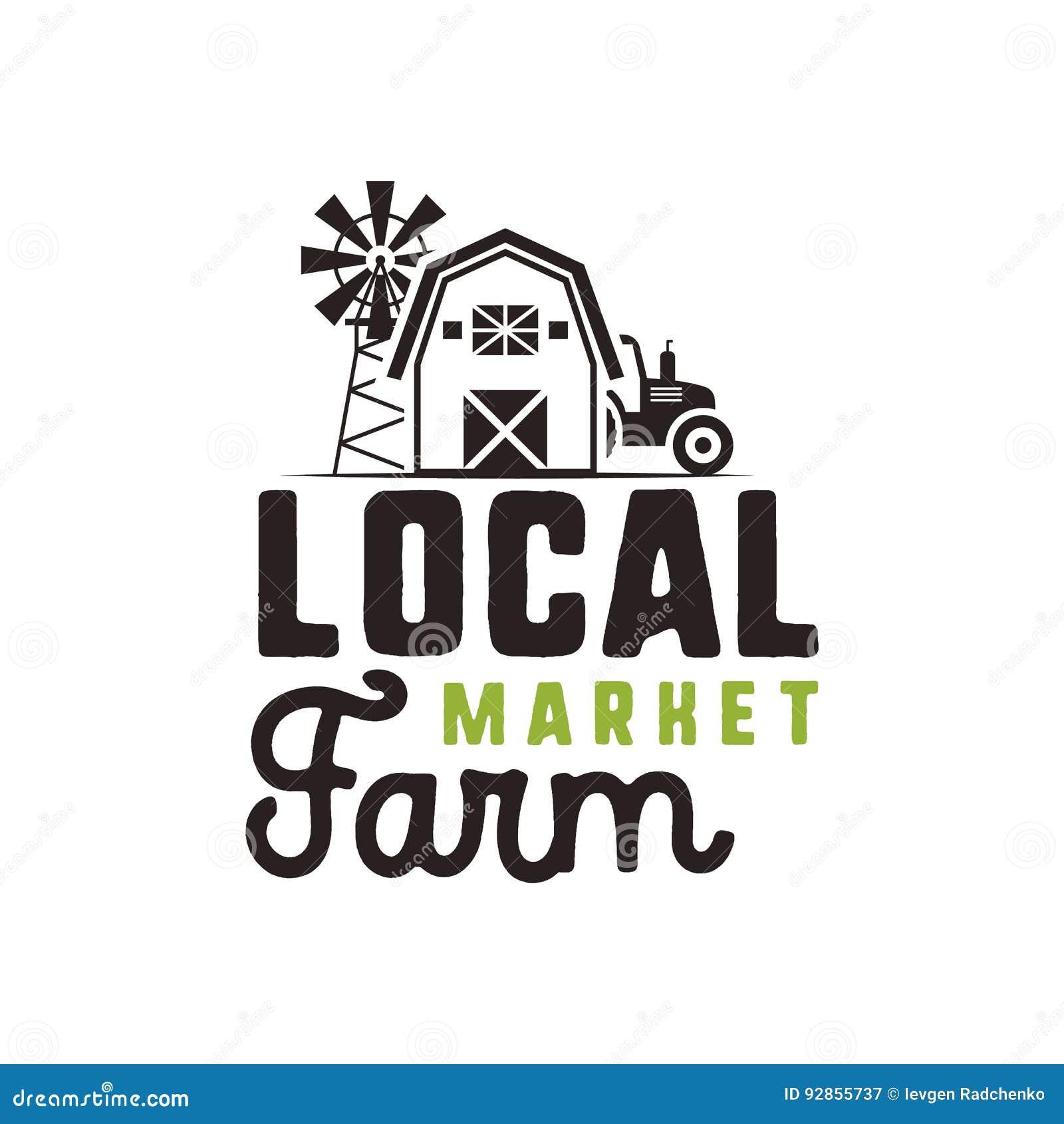 Local Farm Market Logo Design And Label Template Included Farmer