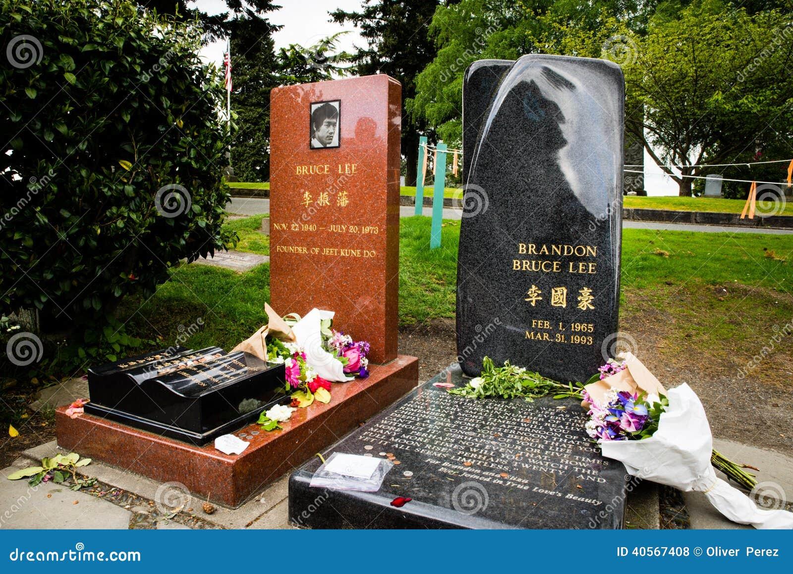 Local grave de Bruce Lee e de Brandon Lee