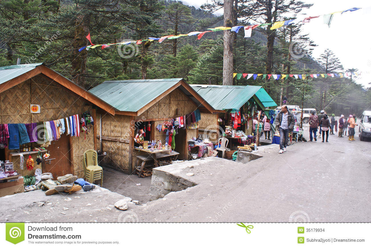 Local Handicraft Market At Yumthang Valley Sikkim Editorial Stock Image Image 35179934