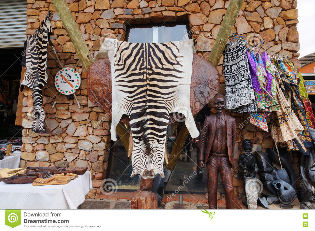 Local Handicrafts Souvenirs For Sell South Africa Stock Photo