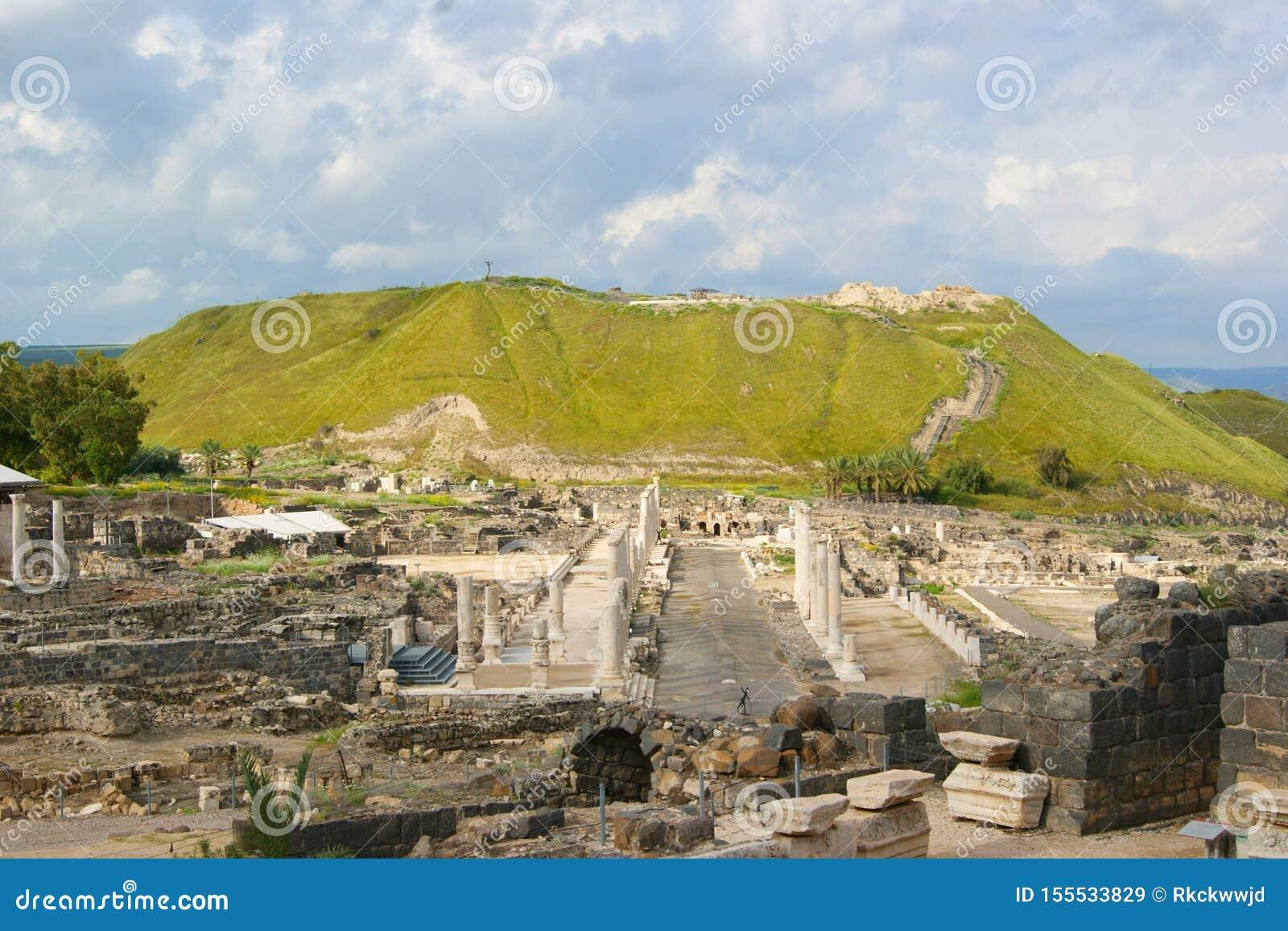 Local histórico Beth Shean - Israel antiga