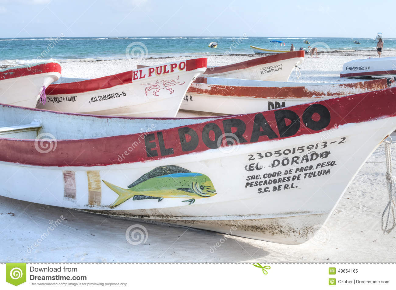 Local mexican fishing boats editorial image image 49654165 for Mexican fishing license