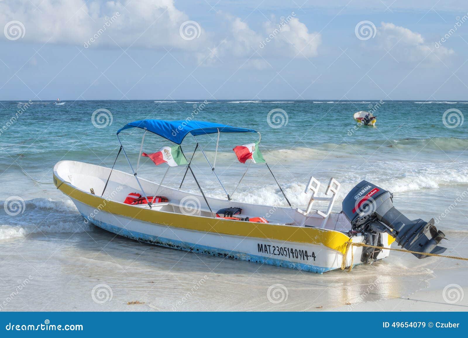 Local Mexican panga boat