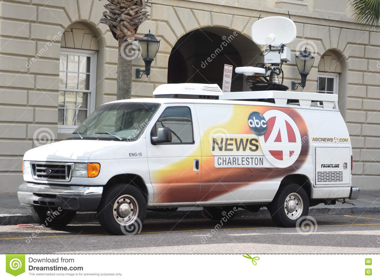 Abc News 4 Satellite Truck Near Court House As Former North Charleston Police Officer Michael Slager Is On Trial In The Of Motorist Walter Scott
